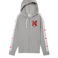University Of Nebraska Slouchy Full-Zip - PINK - Victoria's Secret