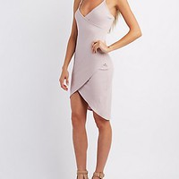 RIBBED ASYMMETRICAL TANK DRESS