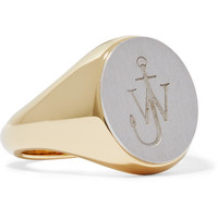J.W.Anderson - Gold-plated and silver-tone ring