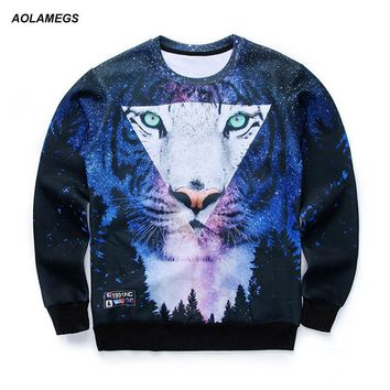 Men/women's 3D graphic sweatshirts Harajuku style funny print tiger pizza lion novelty crewneck sweat shirts pullover hoodies
