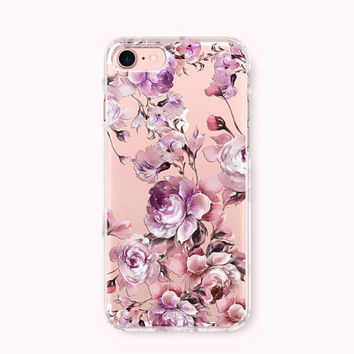 Floral iPhone 7 Case, iPhone 7 Plus Case, iPhone 6/6S Case, iPhone 6 Plus/6S Plus Case, iPhone 5/5S/SE Case,Galaxy Case -Fall in Love-flower