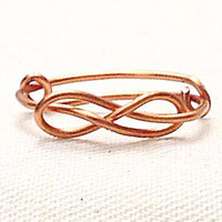 Custom Wire Infinity Knot Ring (MADE TO ORDER) Infinity Symbol Ring, Knot Ring, Customizable Ring, Gold Ring, Silver Ring, Copper Ring