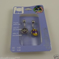 Body Jewelry belly button naval ring piercing body claire's crystal bat batman 2