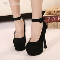 2013 New Sexy Black Closed-toe Stiletto Heels Platform Women's Shoes