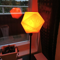 D20 dice lamp shade | Dungeons and Dragons (DnD) lampshade | roleplaying game (RPG) | MTG | game master gift