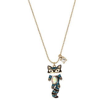MINI CRITTERS RACCOON PENDANT: Betsey Johnson