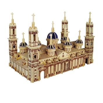3d Wooden Puzzle Children's And Adult Model The Pilar Basilica