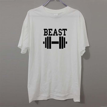 New Beast Dumbbell Couple Matching Workout Lift T-Shirt Men/Women's