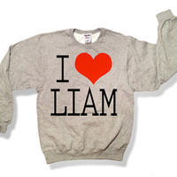 One Direction I Love Liam Payne 007OX Sweatshirt Oxford Gray- x Crewneck x Jumper x Sweater - All Sizes Available
