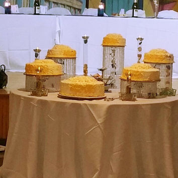 Cascading Crystal cake stand