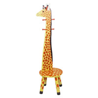 Teamson Kids- Safari Stool w/Coat Rack - Giraffe-W-1945G