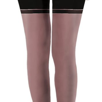 Will you dare to wear it? ;) Kinky leggings with fake pubic hair, skin color look