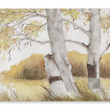 AUTUMN BIRCH TREES Premium Canvas Gallery Wraps By Jayne Conte