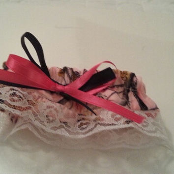 RT Pink Camo, green, white wedding bride garter belt. Any color to match your wedding Style.
