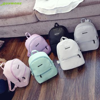 Fashion Backpacks Charming Nice AUHWONE Girls Leather School Bag Travel Backpack Satchel Women Shoulder Rucksack Bag Jn7 Y30
