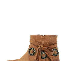 Bonnie Camel Suede Ankle Booties