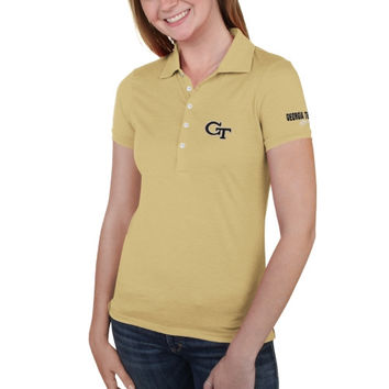 GA Tech Yellow Jackets Ladies Delta Polo – Gold