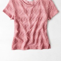 AEO Women's Lace Baby T-shirt