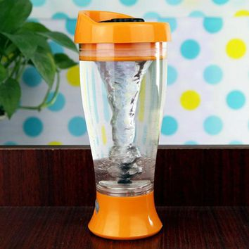 3 Colors Electric Whey Protein Powder Shaker Blender Water Bottle Automatic Movement Fruit Infuser Bottle 400ml BPA free