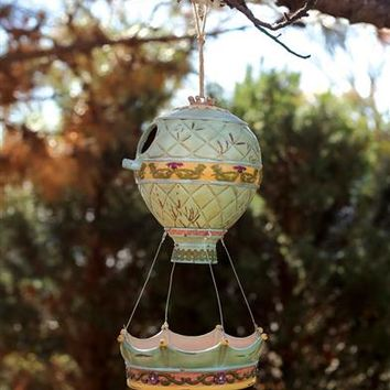 Hot Air Balloon Bird House And Feeder