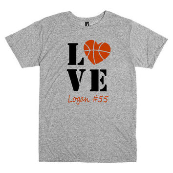 Basketball mom shirt.  Personalized with player's name and number. Love basketball.