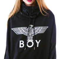 BOY London Eagle BOY Batwing Turtleneck Sweater Black