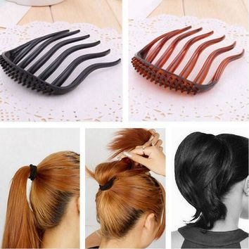 YouMap Useful Volume Inserts Hair Clip Bumpits Bouffant Ponytail Hair Comb Bun Maker Accessories for Women A7R33C