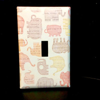 Elephant Light Switch Cover, Elephant Switchplate, Elephant Nursery Decor