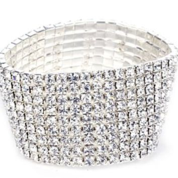 'Bombshell' Crystal Bangle - 8 Row
