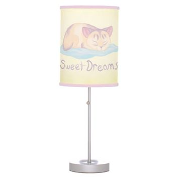 Dreaming Kitten Desk Lamp