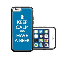 RCGrafix Brand Keep-calm-have-a-beer iPhone 6 Case - Fits NEW Apple iPhone 6