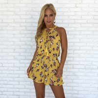 Golden State of Mind Floral Romper