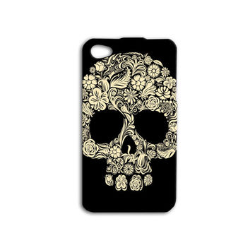 Skull Candy Case Floral Skull Case Day of the Dead Case Gold Skull iPhone Case Cool iPod Case iPhone 5 Case iPhone 4 Case iPhone 5s Case