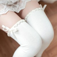 Harajuku Cute Lace Ribbon Knee Socks SD01980