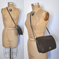 Brown Leather Coach / large PENNY Bag / Purse Satchel