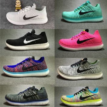 """NIKE"" The new knitted net surface breathable sneaker soft-soled running casual shoes"