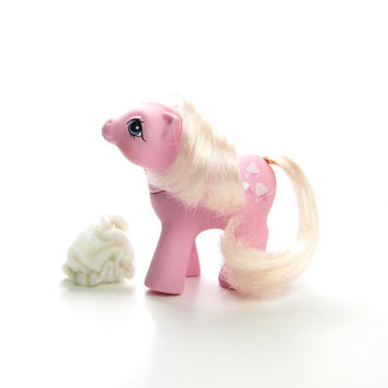 Baby Lickety Split First Tooth My Little Pony Vintage G1 Toy with Star Diaper, Ice Cream Cones Cutie Mark