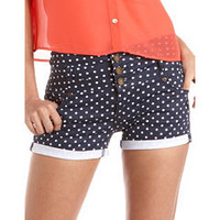 Hot Kiss High Waisted Polka Dot Short: Charlotte Russe