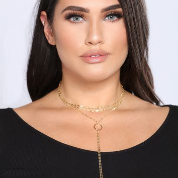 Put O Ring On It Choker - Gold