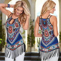 BOHO Sexy Women's Summer Short Mini Evening Party Dress Beach Dresses Sundress