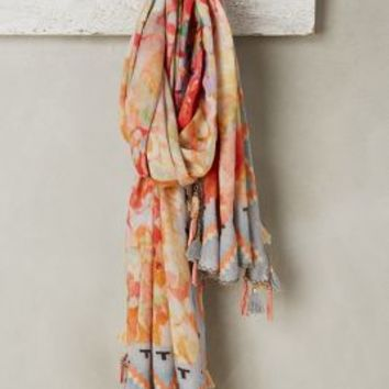 Lagrasse Linen Scarf by Anthropologie in Peach Size: One Size Scarves