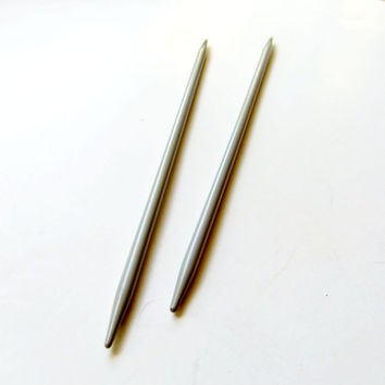 Vintage Susan Bates Quicksilver Double Pointed Knitting Needles 7-Inch Q1407 Made in Mexico