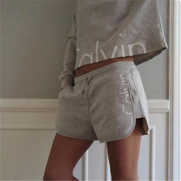 2016 Ladies Tracksuits Cotton Movement Hoodies Sweatshirt + Short Pants Jogging Sports Costumes Women Pant Set 2 Piece Set