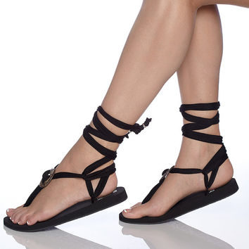 Comfortable sandals turquoise and black extra pair strap
