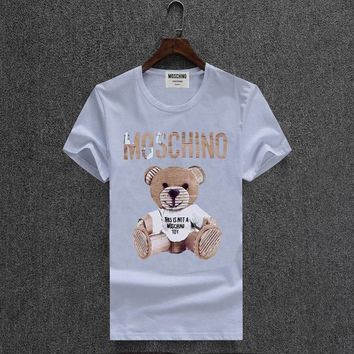 Moschino Short Round Collar Short Sleeve T-shirts #2965702
