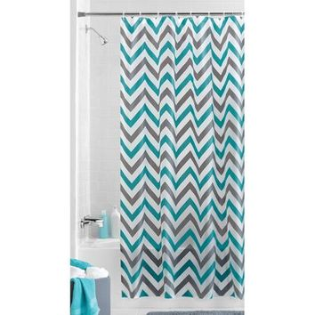 Mainstays Alpha Chevron PEVA Shower Curtain   Walmart.com