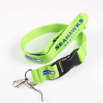 Seattle Seahawks Neck Rope Lanyard Phone Key Holder Sweater Chain Pendant Necklace American Football Sport Jewelry