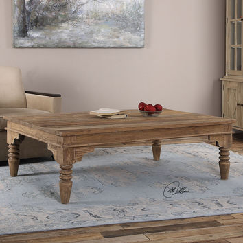 Uttermost Khristian Reclaimed Wood Coffee Table