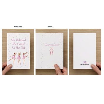 Dance Card - She Believed She Could So She Did