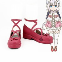 2017 Anime Kobayashi-san Chi no Maid Dragon Cosplay Shoes Kanna Shoes Customize Miss Kobayashi's Dragon Maid Kanna Boots
